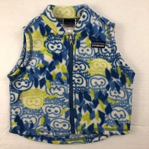 Patagonia owl Fleece Vest